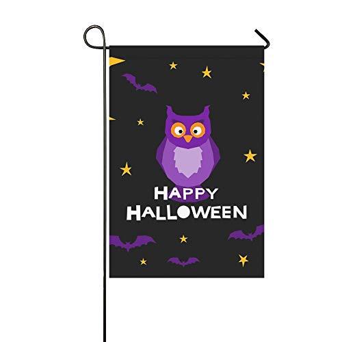 Dunkle Kostüm Karte - Home Dekorative Outdoor Doppelseitige Happy Halloween Kartenvorlage Abstrakte Halloween Garten Flagge, Haus Hof Flagge, Garten Hof Dekorationen, saisonale Willkommen Outdoor Flagge 12 X 18 Zoll Frühli