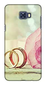 Blutec Rings Design 3D Printed Hard Back Case Cover for Samsung Galaxy C7 Pro