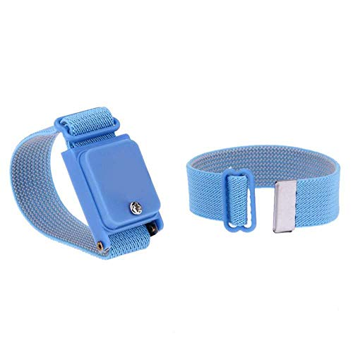 Ociodual Pulsera Anti Estatica Ajustable sin Cables Wireless Aislante Electronica Azul