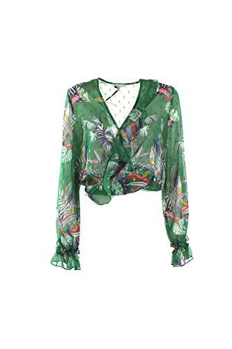 f4232de0ef9 KOCCA Blusa Donna M Verde Giolet Primavera Estate 2019