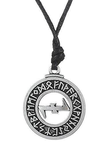 fishhook Wicca 24Lucky amult Rune Clave de solomen Talisman Hueca Collar con Colgante