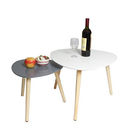 Ease 2xCoffee Tisch Retro MDF Dreiecksform Beistelltisch Nesting Tables  Multifunktionale Moderne Beistelltisch Für Büro, Küche