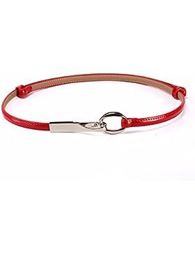 Un fino cinturón estrecho cinturón de cuero de moda femenina de ocio verano decoracion compadreo,De gules