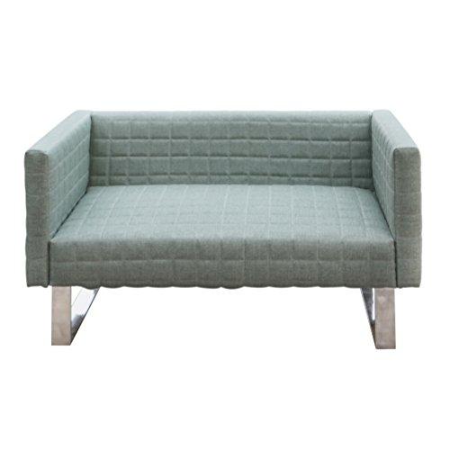 Furniture 247 2-Sitzer Sofa mit eleganten Metallfüßen- Grün