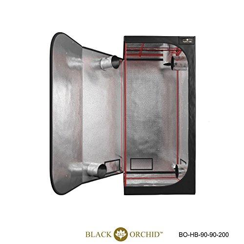 Black Orchid Chambre de culture hydroponique 90 x 90 x 200 cm Noir
