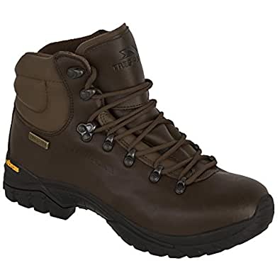 Trespass Mens Walker Waterproof Leather Walking Boots (6 UK) (Brown)