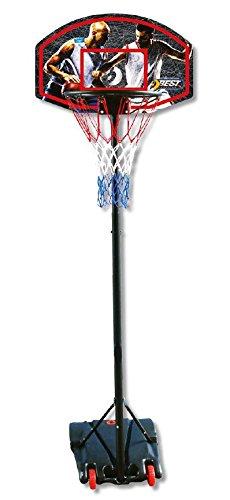 Best Sporting Basketball-Ständer, höhenverstellbar, wetterfest, Basketballkorb mit Rollen (schwarz, 205)