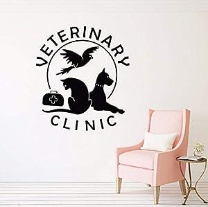 centros veterinarios gatos: Yologg 42X47 Cm Tienda De Hospital Gato Perro Tatuajes De Pared Para Mascotas Cl...