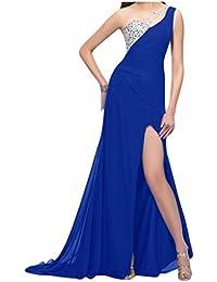 Por la noche de la Toscana de novia de Gasa de noche de la manera de la ranura de largo al tul vestidos de bola con…