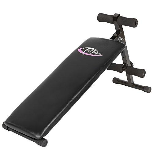 TecTake Banc de musculation pour muscles abdominaux 120 cm x 33 cm x 63 cm appareil de fitness sport