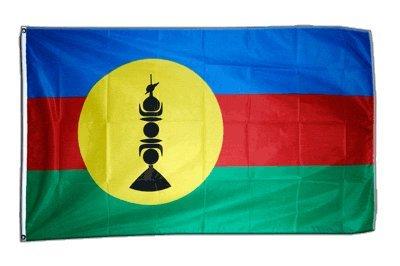 Digni drapeau France Nouvelle-Calédonie Kanaky 90 x 150 cm