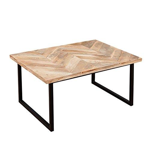 Invicta Interior Moderner Couchtisch Fusion 70cm Mangoholz Eckig Natur Massivholz Beistelltisch Holztisch
