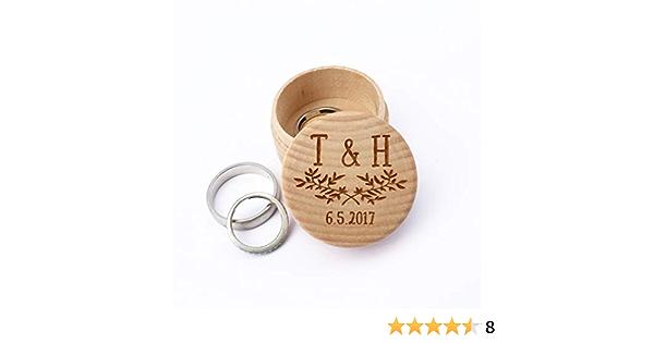 Custom Laser Printed Ring Box