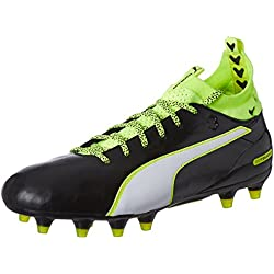 Puma Evotouch 1 FG, Scarpe da Calcio Uomo, Nero (Schwarz (Black-White-Safety Yellow 01)), 42.5 EU