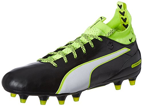 PumaevoTOUCH 1 FG - Scarpe da Calcio Uomo , Nero (Schwarz (black-white-safety yellow 01)), 43 EU