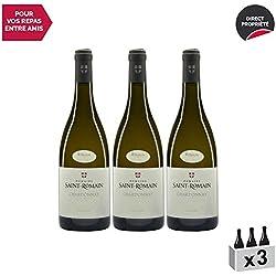 """Vin de Savoie Chardonnay""""Sous la Chapelle"""" Blanc 2017 - Domaine Saint-Romain - Vin AOC Blanc de Savoie - Bugey - Cépage Chardonnay - Lot de 3x75cl"""