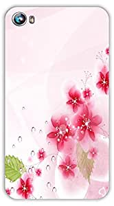 Crazy Beta Pink flowers leafs design Printed mobile back cover case for Micromax CanvasFire 4 A107