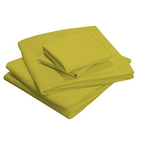 SCALABEDDING 30 cm tiefen Tasche, 100% ägyptische Baumwolle, Fadenzahl 800 Doppel-Solid XL Blatt Set, Salbei - Salbei Twin 30