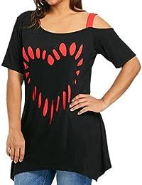 FAMILIZO Camisetas Mujer Verano Blusa Mujer Elegante Camisetas Mujer Manga  Corta Algodón Camiseta Mujer Camisetas Mujer 32578bbe92ddb