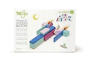 Tegu Juego de Bloques de Construcción de madera magnéticos de 24 piezas - Floral