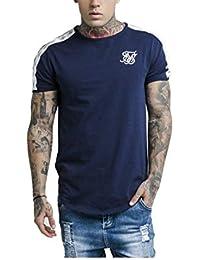 disfruta del envío gratis primera vista a juego en color Amazon.es: Sik Silk - Azul / Camisetas, polos y camisas ...