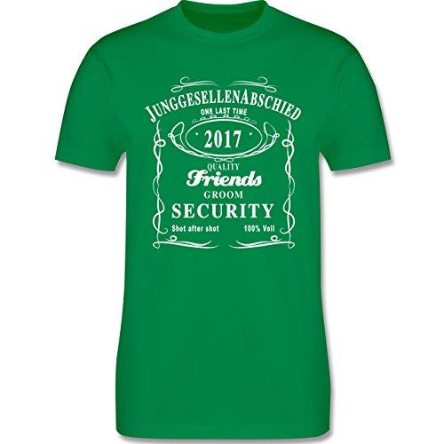 JGA Junggesellenabschied - JGA Groom Security 2017 Lettering - Herren Premium T-Shirt Grün