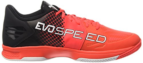 Puma Evospeed Indoor 3.5, Chaussures de Fitness Mixte Adulte Rouge (Red Blast/White/Black)