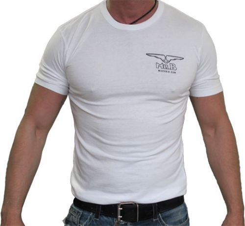 Mister B T-Shirt, M, weiß