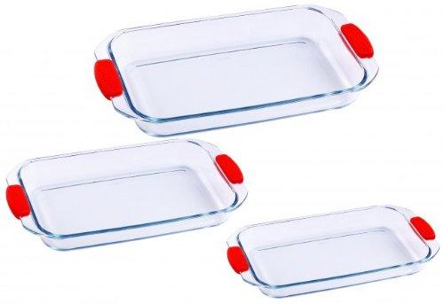 EAN 4260173751857 Glas Auflaufformen Set 3 Tlg. 1,6 L. / 2,2 L ... | {Auflaufformen 68}