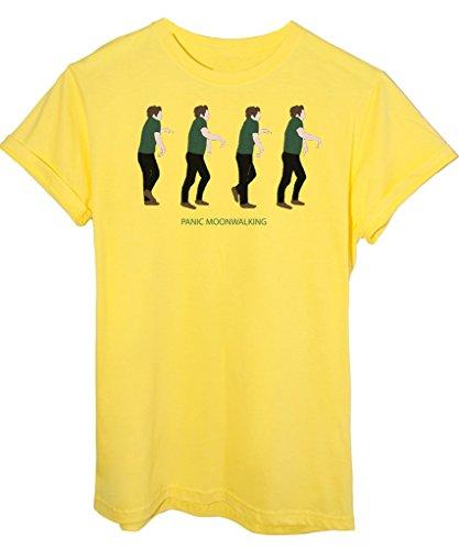 T-Shirt NEW GIRL PANIC MOONWALKING - SERIE TV - by iMage Giallo