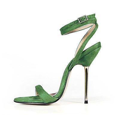 LFNLYX Donna Sandali Estate cinturino alla caviglia Velvet Party & abito da sera Casual Stiletto Heel Nero Blu Verde viola scuro Grigio scuro Dark Grey