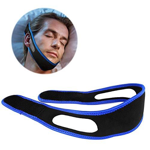 Silverback Anti Schnarch Lösung - Band Bandage - Mittel Gegen Schnarchen Stopper Maske - Kinnriemen Gurt Hilfe In Schwarz Blau