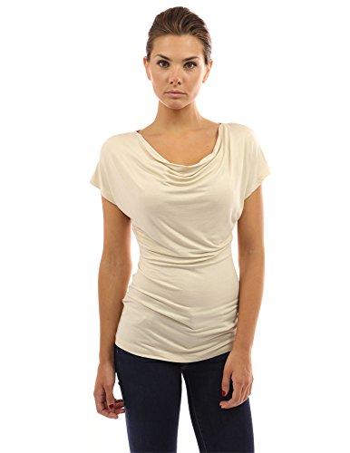 Damen Wasserausschnitt Bluse mit kurzen Ärmeln - 27,99 €