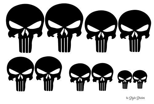 Punisher Aufkleber 10 Punisher sticker Skull MTB fully MX Motorrad Buggy quad zubehör / Autoaufkleber