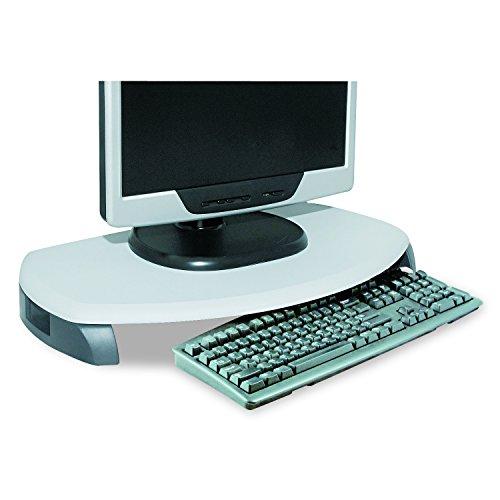 Kantek Monitor Ständer/Tastatur Aufbewahrung, 23x 13-1/10,2x 7,6cm, schwarz (Ms280B) 23