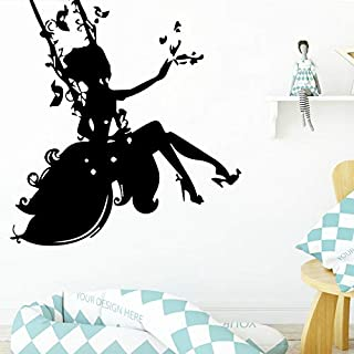 JYNX Flower Fairy Schlafzimmer Wohnzimmer Mädchen Room Home Decor Wandaufkleber als Geschenk Wasserdicht Art Deco 43x45cm