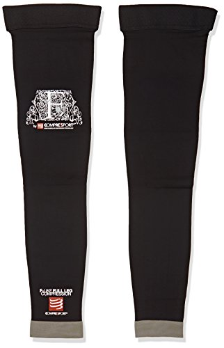 Compressport Full Leg - Calcetines unisex, color negro, talla 2