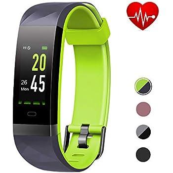 Lintelek Pulsera Inteligente con GPS, Smartwatch Impermeable IP68 para Natación, Pulsera Actividad con Pulsómetro, Podómetro, Monitor de Sueño para ...
