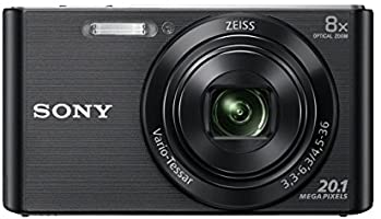 Sony DSC-W830B Appareil Photo Numérique Compact, 20.1Mpix, Zoom Optique 8x, Stabilisation Optique - Noir