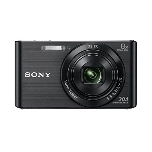 Sony DSC-W830 Digitalkamera (20,1 Megapixel, 8x optischer Zoom, 6,8 cm (2,7 Zoll) LC-Display, 25mm Carl Zeiss Vario Tessar Weitwinkelobjektiv, SteadyShot) schwarz - Digital-film-kamera