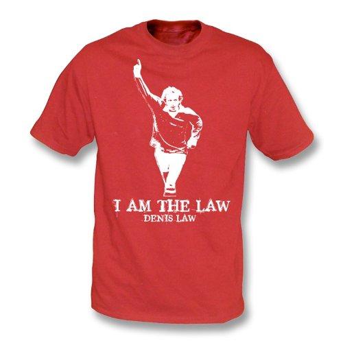 Denis Law - Ich bin das Gesetzest-shirt Rot