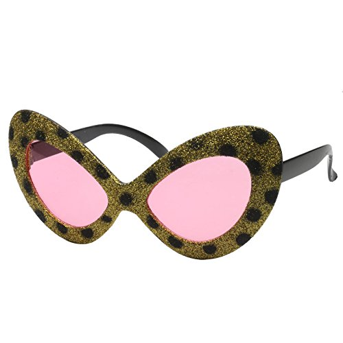 Print, Pink, Cat Eye, Funny Eyeglasses, Personalized Selfies, Funny Props, Photo Shoots, Toy Party Supplies (Leopard Party Supplies)