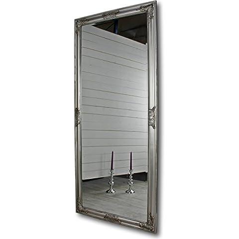 Espejo de pared Oro Blanco Plata Marco de madera, madera, plata, 162 x 72cm
