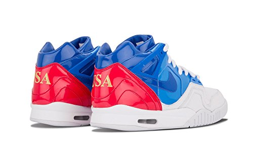 "Hommes Air Tech Challenge II Sp ""US Open"" Trainer Sport Shoes WHITE/PRIZE BLUE-UNIVERSITY BLUE-GYM RED"