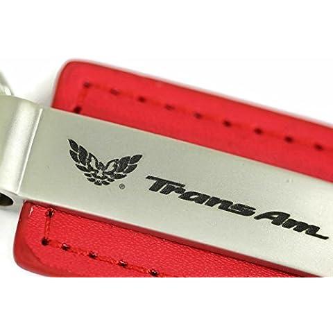 Pontiac trans Am in pelle portachiavi rosso rettangolare Anello Portachiavi da dantegts