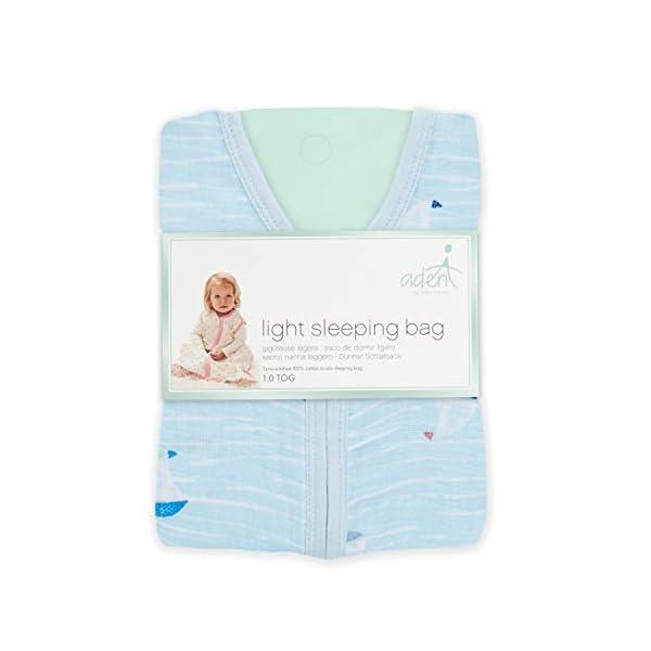 aden by aden + anais saco de dormir,  100% muselina de algodón, 1.0 TOG ,  hacer ondas – barco de vela, 12-18 meses