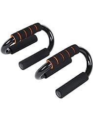 Songmics Para Flexiones Ejercicios Manijas Push up Bars Pro Entrenamiento y ejercicios Soportes para flexiones entrenamientos de abdominals SPU82S