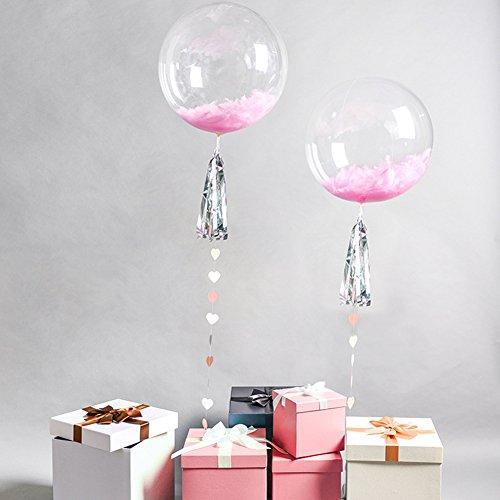 gaeruite Globo de burbujas redondo, 10 unidades, transparente, globo decorativo de helio transparente, globo de espuma para cumpleaños, fiestas, bodas, fiestas, sin arrugas, pvc, As Show, A:12 inches