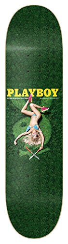 Jart Garden MC Playboy Logo Deck Tabla de Skateboard, Unisex Adulto, Verde, 8.125""