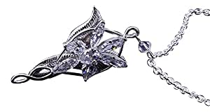 Lord of the Rings Evenstar Arwen Pendant Platinum plate -Prop Replica - NEW STOCK